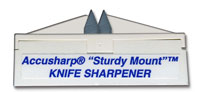 AccuSharp Sharpener AccuSharp SturdyMount Knife Sharpener, White, AS-4