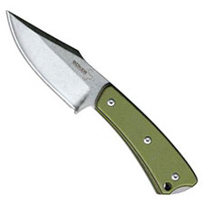 Boker Plus Piranha Fixed Blade Knife with OD Green Handle, 02BO005