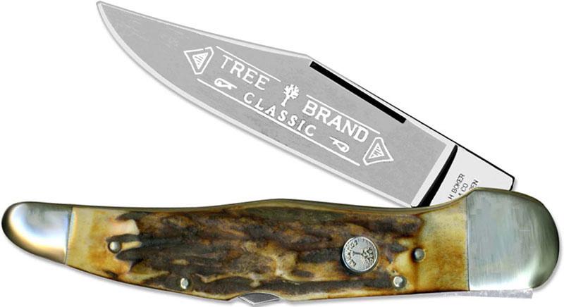 boker lockblade folding hunter knife stag bk 1011hh