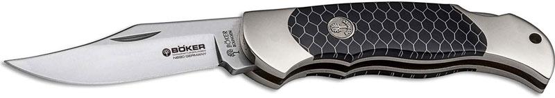 Boker Boy Scout 112601 Knife Clip Point Honeycomb Black Lockback Pocket  Knife Made in Germany