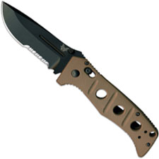 Benchmade Sibert Adamas, Part Serrated, BM-275SBKSN