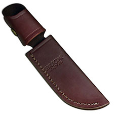 Buck Skinner Knife Sheath Only, Burgundy Leather, BU-103BRS