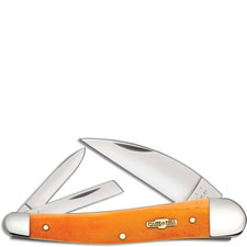 Case Seahorse Whittler Knife, Smooth Persimmon Orange Bone, CA-10312