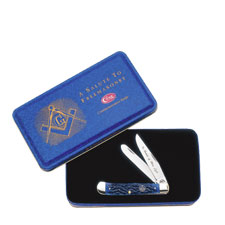 Case Knives Case Masonic Trapper Knife with Tin, CA-1058