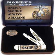 Case USMC Trapper Knife Set, CA-13183