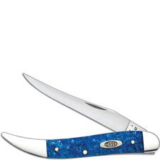 Case Medium Texas Toothpick Knife, Blue Sparkle Kirinite, CA-13535