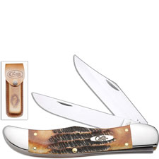 Case Folding Hunter Knife, BoneStag, CA-3574