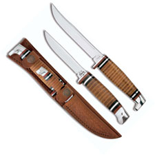 Case Knives Case Hunting Knife, Twin Finn Two Knife Set, CA-372