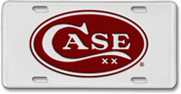 Case Knives Case License Plate, Red Oval Logo, CA-50006