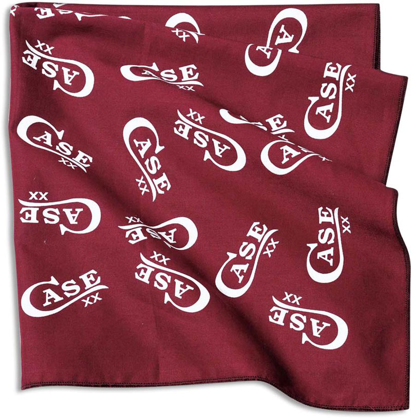 Case Knives Case Bandana Burgundy And White Ca 50081