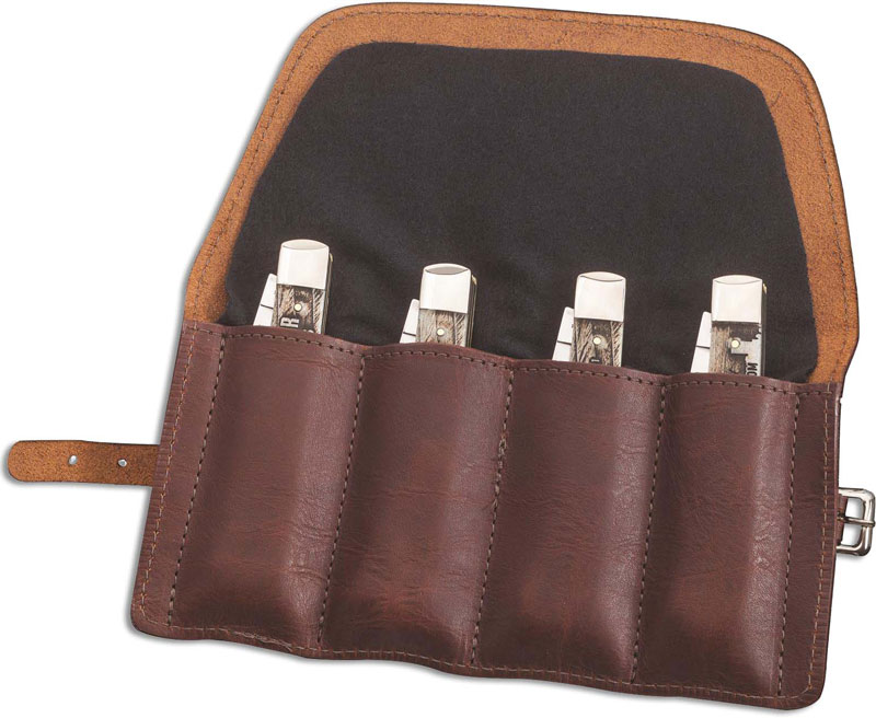 Case 50246 Gentleman S Knife Roll Leather With Flannel