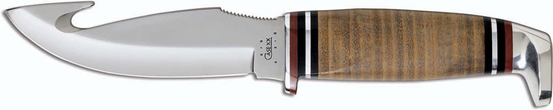 Case Knives Case Hunting Knife Gut Hook With Leather