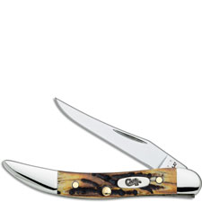 Case Small Texas Toothpick Knife, Genuine Stag, CA-5532