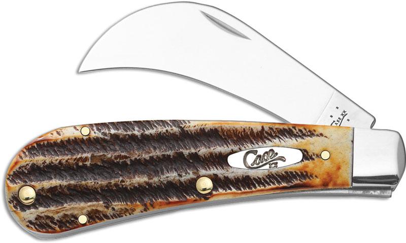 Case Hawkbill Pruner Knife Bonestag Ca 65309