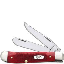 Case Mini Trapper, Sawcut Dark Red Bone, CA-69405