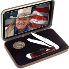 Case John Wayne Commemorative Trapper, Dark Red, CA-7444