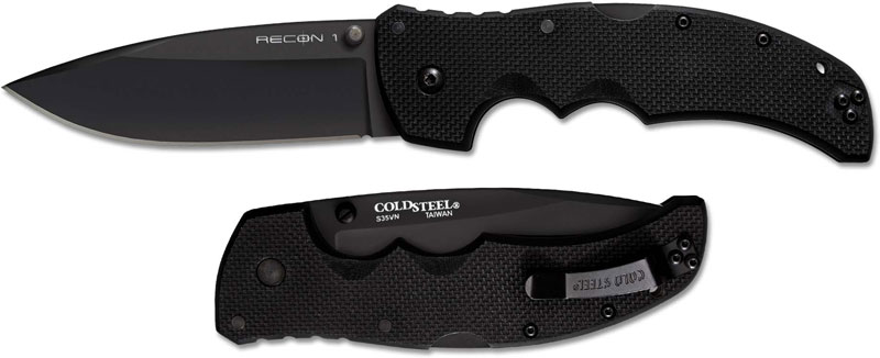 Cold Steel 27bs Recon 1 Knife S35vn Black Spear Point