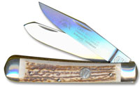 Eye Brand Knives Eye Brand Trapper Knife, Stag Handle, EB-JDS
