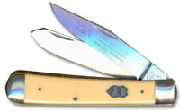 Eye Brand Knives Eye Brand Trapper Knife, Yellow Handle, EB-JY