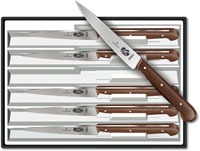Forschner Steak Knife Set, Rosewood Wavy, FO-46003