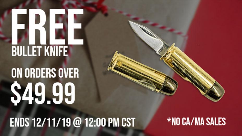 FREE BULLET KNIFE