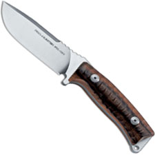 Fox Knives Pro Hunter FX-131 DW Drop Point Fixed Blade Knife Brown Santos Wood Made In Italy