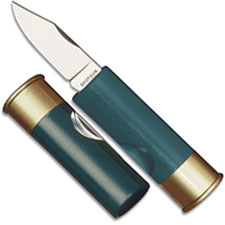 Hallmark 12 Gauge Shotgun Shell Knife, Green, HM-181G