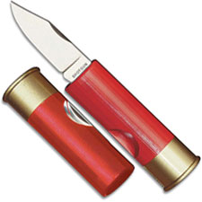 Hallmark Cutlery Hallmark 12 Gauge Shotgun Shell Knife, Red, HM-181R