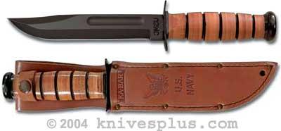 Kabar Knife Us Navy With Leather Sheath Ka 1225