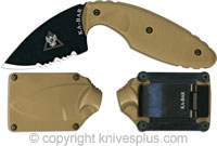 KA-BAR Knives KABAR TDI Knife, Part Serrated Coyote Brown, KA-1477CB