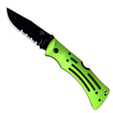 KABAR Zombie Mule Folder, Part Serrated, KA-3059