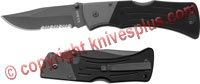 KABAR G10 Mule Folder, Clip Point Part Serrated, KA-3063