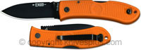 KA-BAR Knives KABAR Dozier Folding Hunter, Orange Handle, KA-4062BO