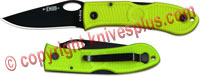 KABAR Dozier Folding Thumb Notch, Zombie Green, KA-4065ZG