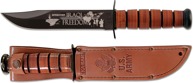 Ka Bar Knives Ka Bar Iraqi Freedom Knife Us Army Ka 9127