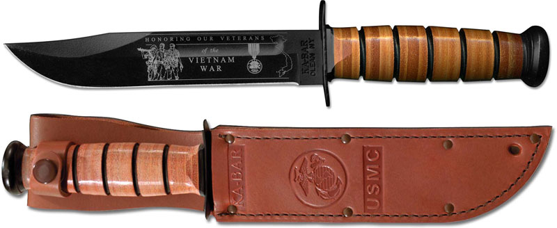 KA-BAR Knives: KABAR Vietnam Commemorative Knife, USMC, KA-9140