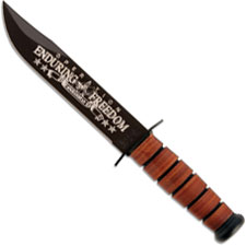 KABAR 9170 US Navy OEF Afghanistan Commemorative Knife