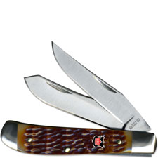 Robert Klaas Mini Trapper Knife, Tobacco Bone, KC-6218BR