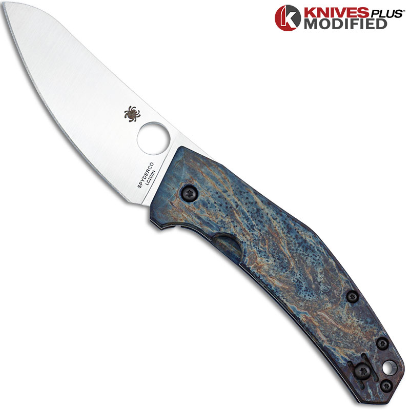 MODIFIED Spyderco SpydieChef C211TIP Knife - MAYHEM FINISH