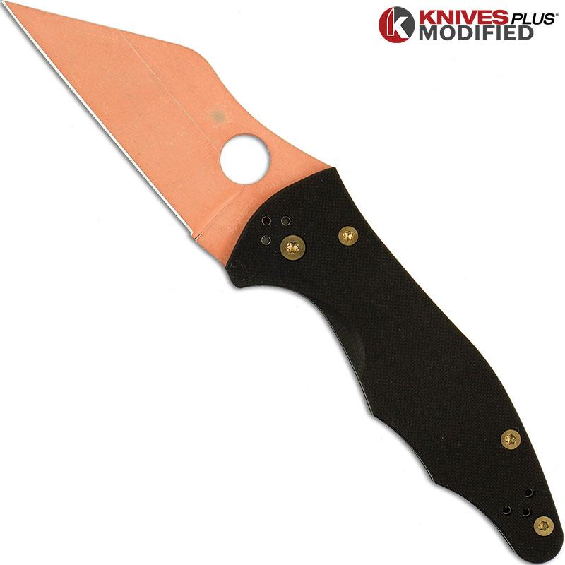 Modified Spyderco Yojimbo 2 Knife Acid Wash C85gp2