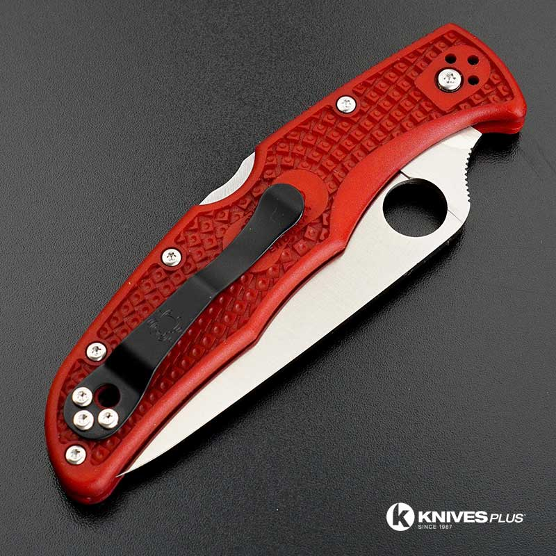 Modified Spyderco Endura 4 The Red Dragon Rit Dyed Handle
