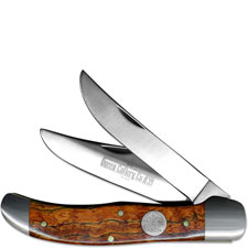 Queen Knives Queen Folding Hunter Knife, Curly Zebra Wood, QN-39CZ