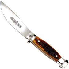 Queen Knives Queen Skinner Knife, Aged Honey Stag Bone, QN-98ACSB