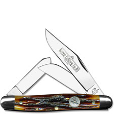 Queen Knives Queen Large Stockman Knife, Honey Amber, QN-9ACSB