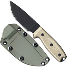 Ontario Knives Ontario RAT-3 Knife, Green Sheath, QN-RAT3OD