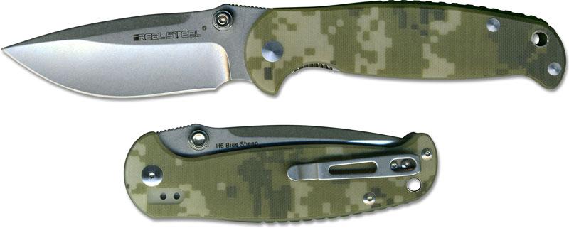 Real Steel 7767 H6 Blue Sheep Edc Liner Lock Folding Knife