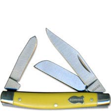 Old Timer Knives Middleman Old Timer Knife, Yellow, SC-34OTY
