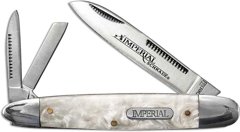 Schrade Imperial Imp9 Cigar Whittler Pocket Knife Cracked