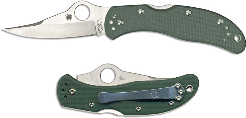 Spyderco Worker Knife Limited Green G10 Sp C01gpgr