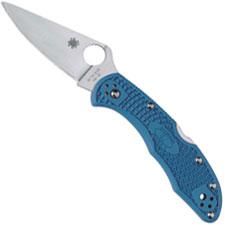 Spyderco Knives Spyderco Delica 4 Lightweight, Blue, SP-C11FPBL